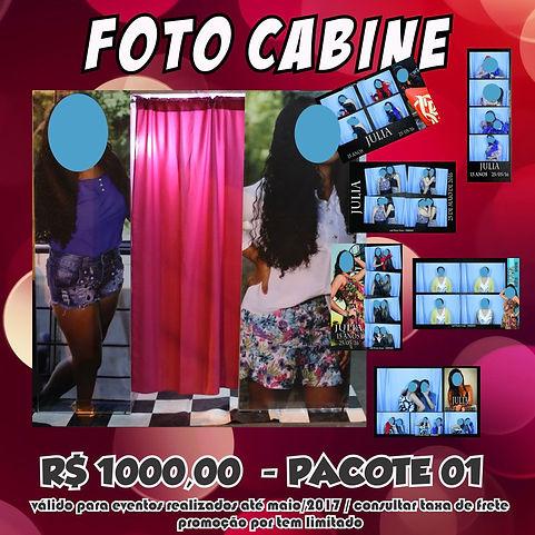 foto cabine promoção