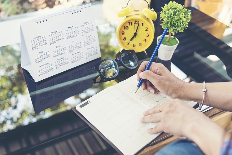 2020 Calendar event planner timetable ag