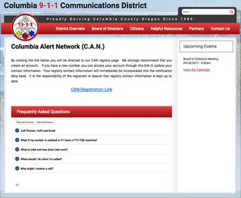 Columbia Alert Network. Register now!