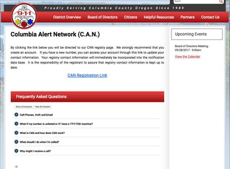 Columbia Alert Network. Register now!
