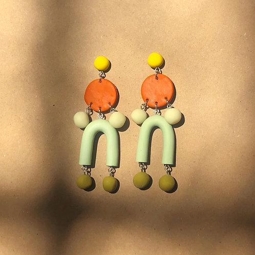 Abstract Earrings//Terracotta