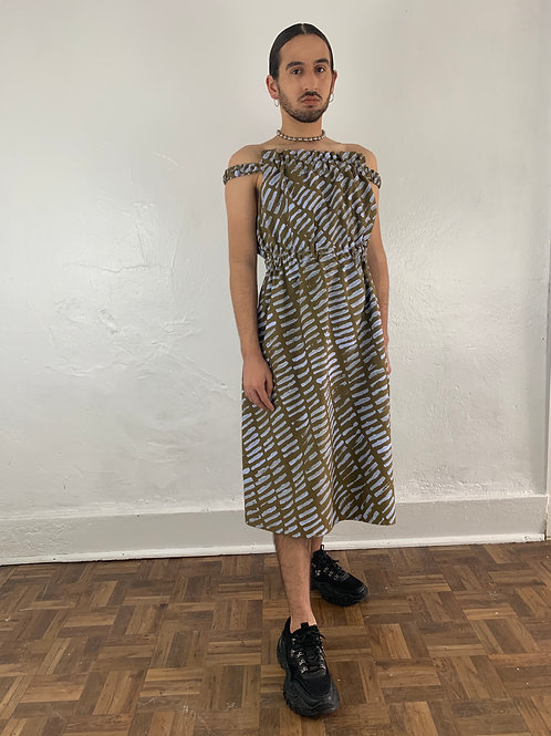 Hand-Painted Midi Dress