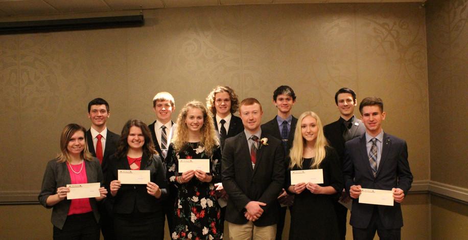 2019 Banquet Freshman Scholarships