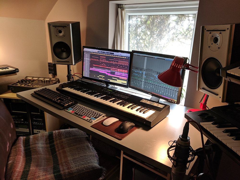 Here's the original studio desk, which I was also pretty fond of but it was a bit clinical - I ended up giving it away on a local 'free stuff' website.