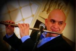 Igor Babich playing flute