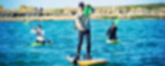pêcher avec la pagaie de paddle
