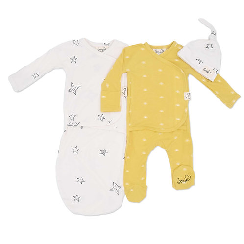 Baby Bundle - Sunrise Footie & Star Bag Set Twin Pack