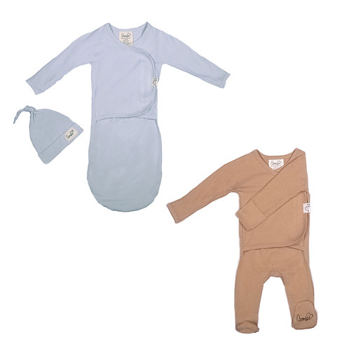 Baby Bundle - Mist Bag Set & Mocha Footie
