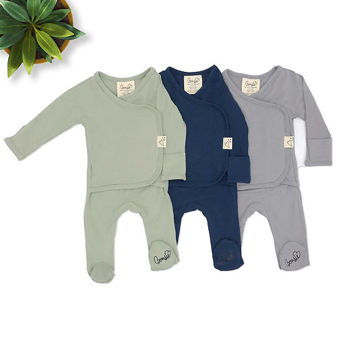 Baby Bundle Footie - Avocado, Midnight & Fog Triple Pack