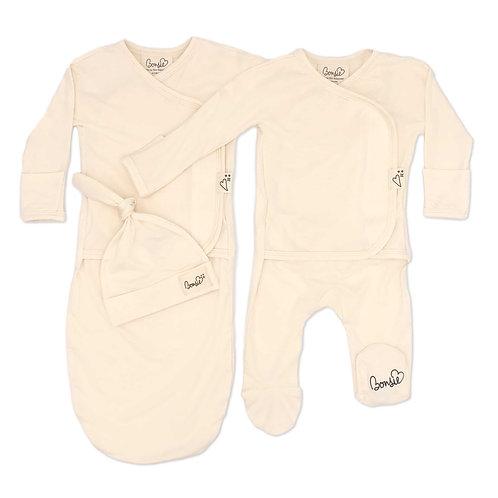 Baby Bundle - Oat Footie & Oat Bag Set Twin Pack