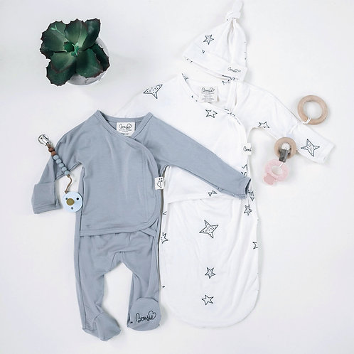 Baby Bundle - Fog Footie & Star Bag Set Twin Pack