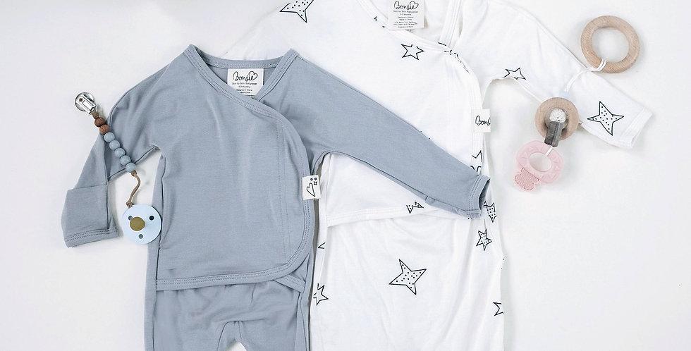 Baby Bundle - Fog Footie & Star Bag Set Twin Pack
