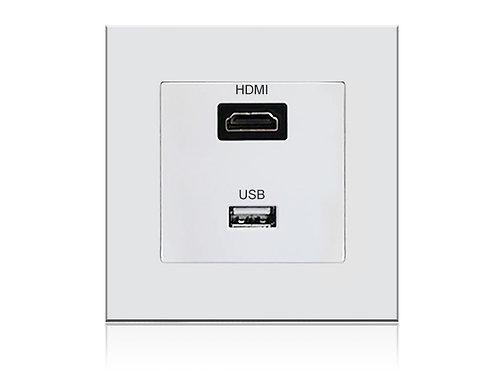 Multimedia Steckdose (HDMI & USB)