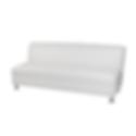 0-LAS3W - Armless 3 Seater Sofa - White.