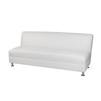 0-LAS3W - Armless 3 Seater Sofa - White.