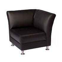 0-LCSB - Armless Corner Sofa Seat - Blac