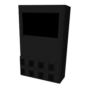 charging station tabletop black 450 x 45