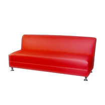 0-Red Sofa Leather 3 Seat Armless.jpg