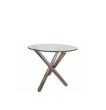 0-TERG - Riviera Glass End Table - Chrom