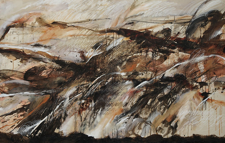 Land of Silent #2, Mix Media on Canvas,