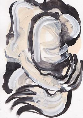 Acrylic on canvas original artwork. In her body exhibition. Female body. Female form. Contemporary art.