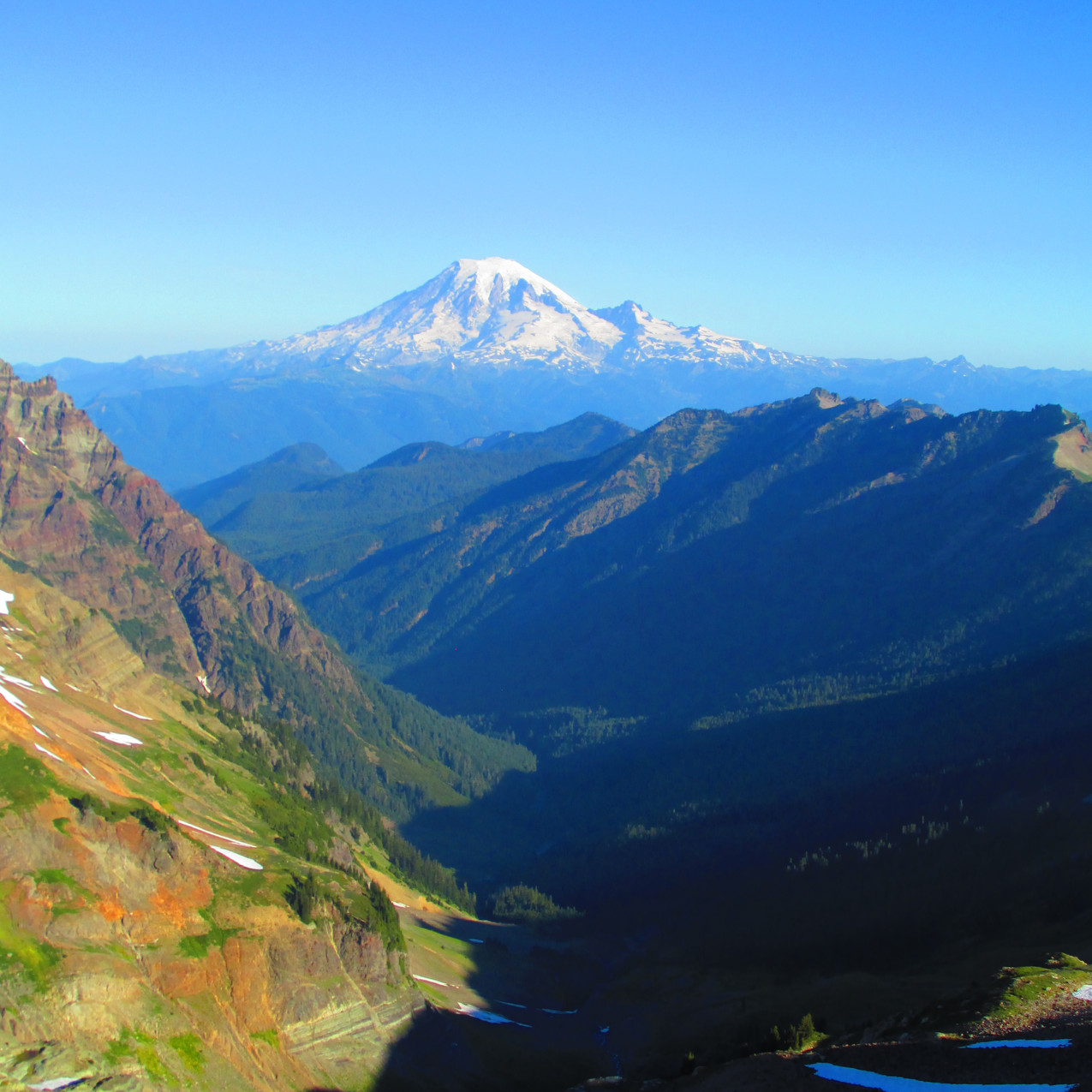 The Goat Rocks has some great views of Mt. Rainier if you are lucky enough to get good weather.
