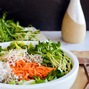 Sprout Salad with Orange-Miso Dressing