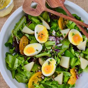 Breakfast Salad with EFA Dressing