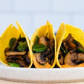 Cheesy Mushroom Tacos