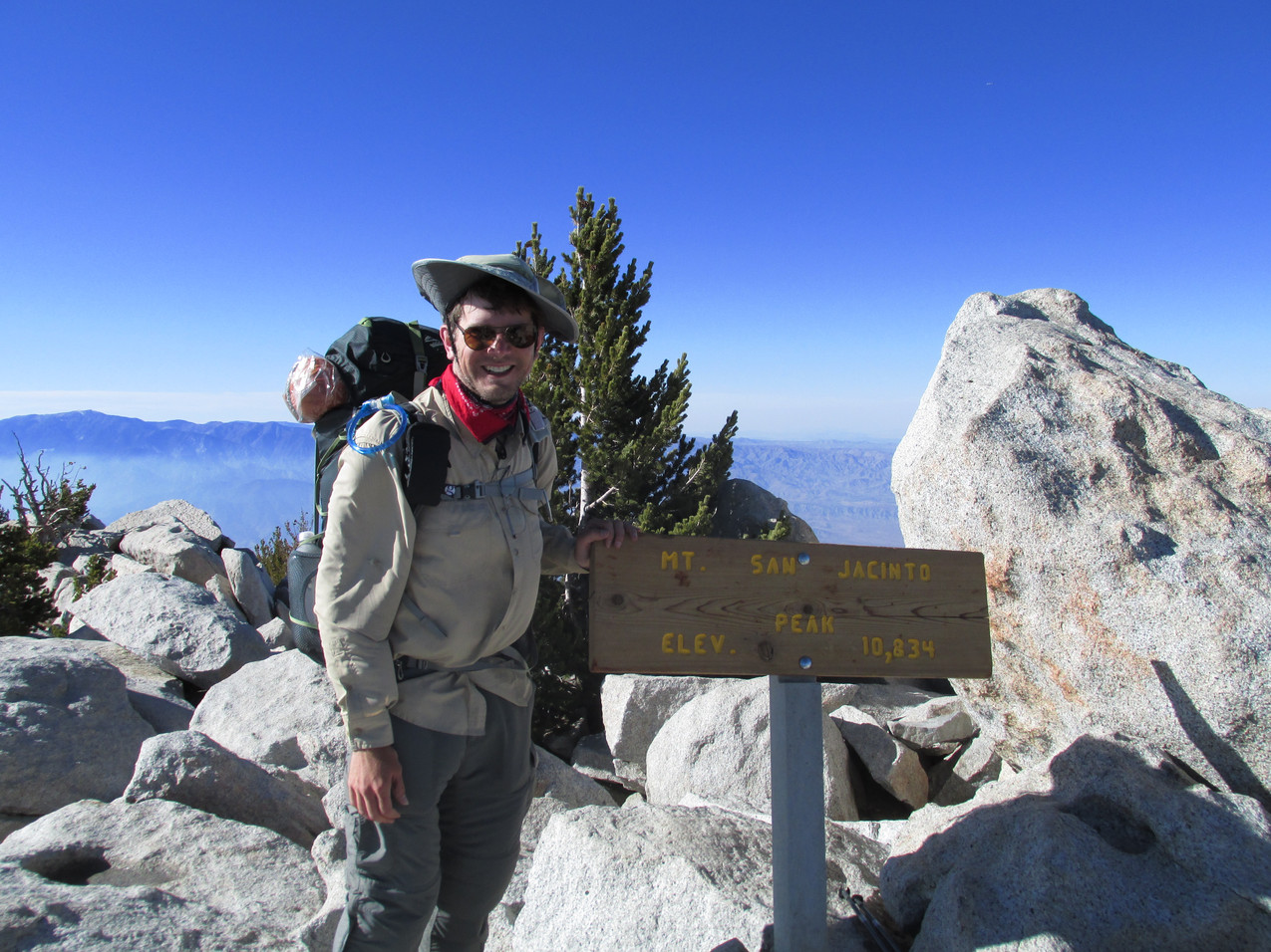 I climbed San Jacinto with Team Fire Closure.  Town Food and I reached the summit before the rest.