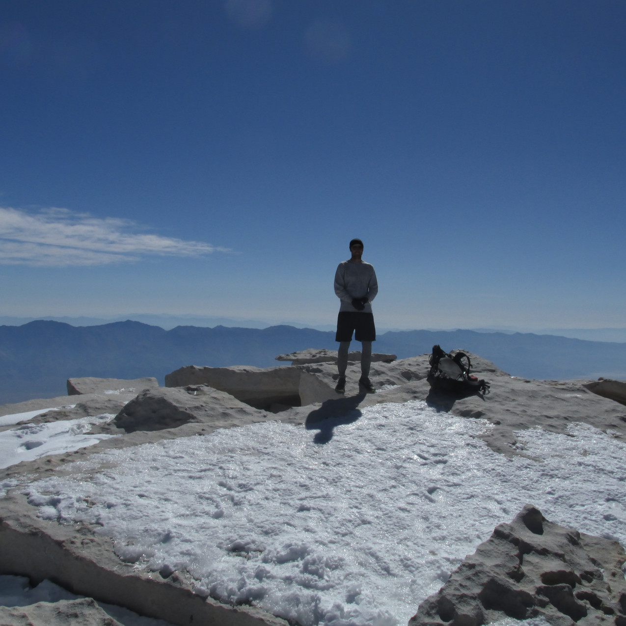 I'm at the highest point in the Lower 48.  This picture was taken by Braveheart.