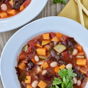 White Bean, Tomato & Greens Soup