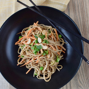 Pea-Nutty Soba Noodles