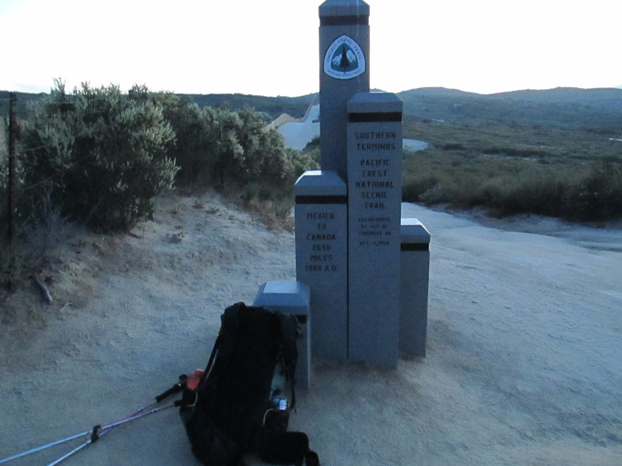 I finally got to the Southern Terminus of the PCT on May 10 at 8:00 PM.  It was a long, stressful day for me.