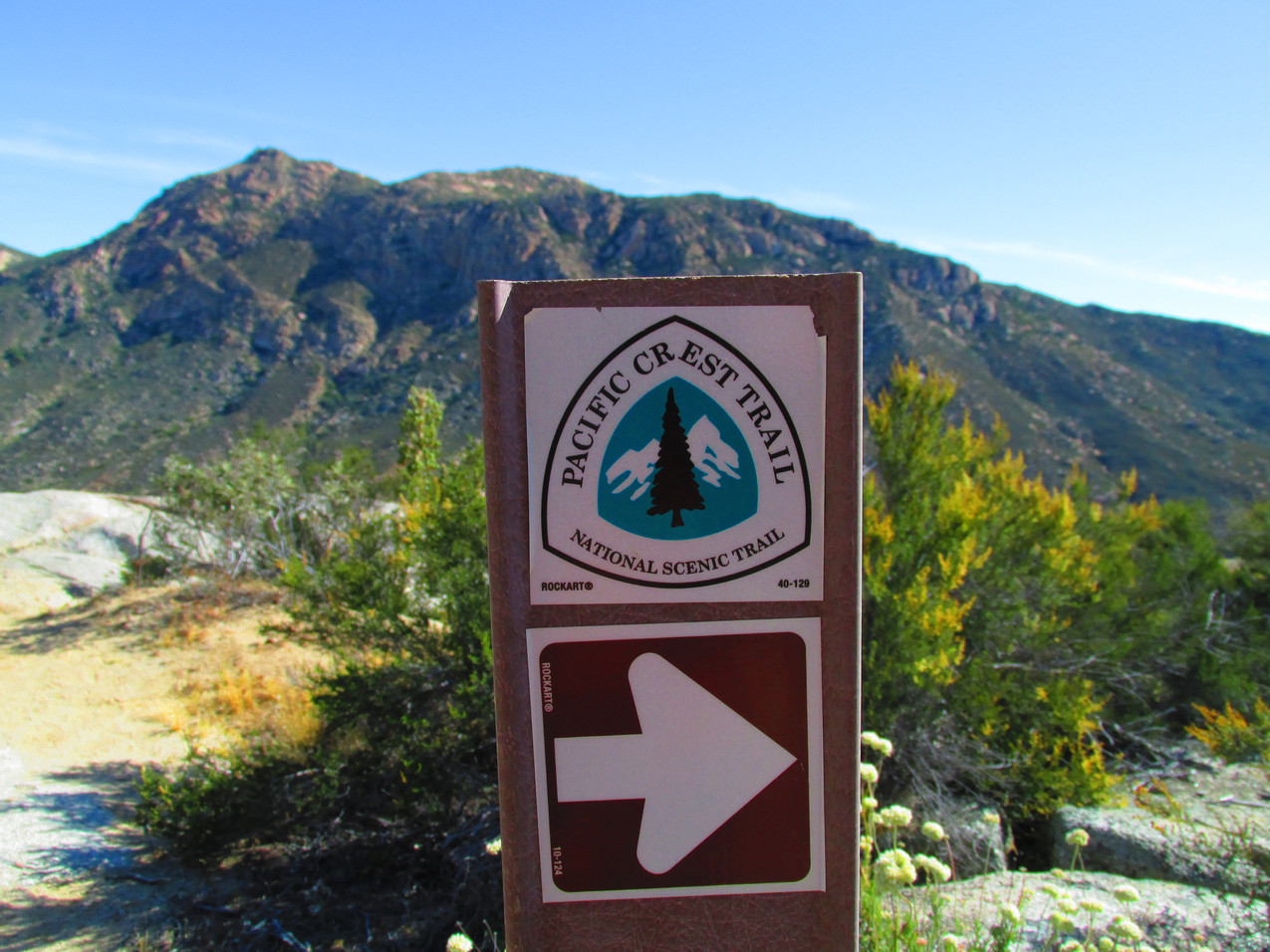 Navigation on the PCT was normally as easy as following signs like this.