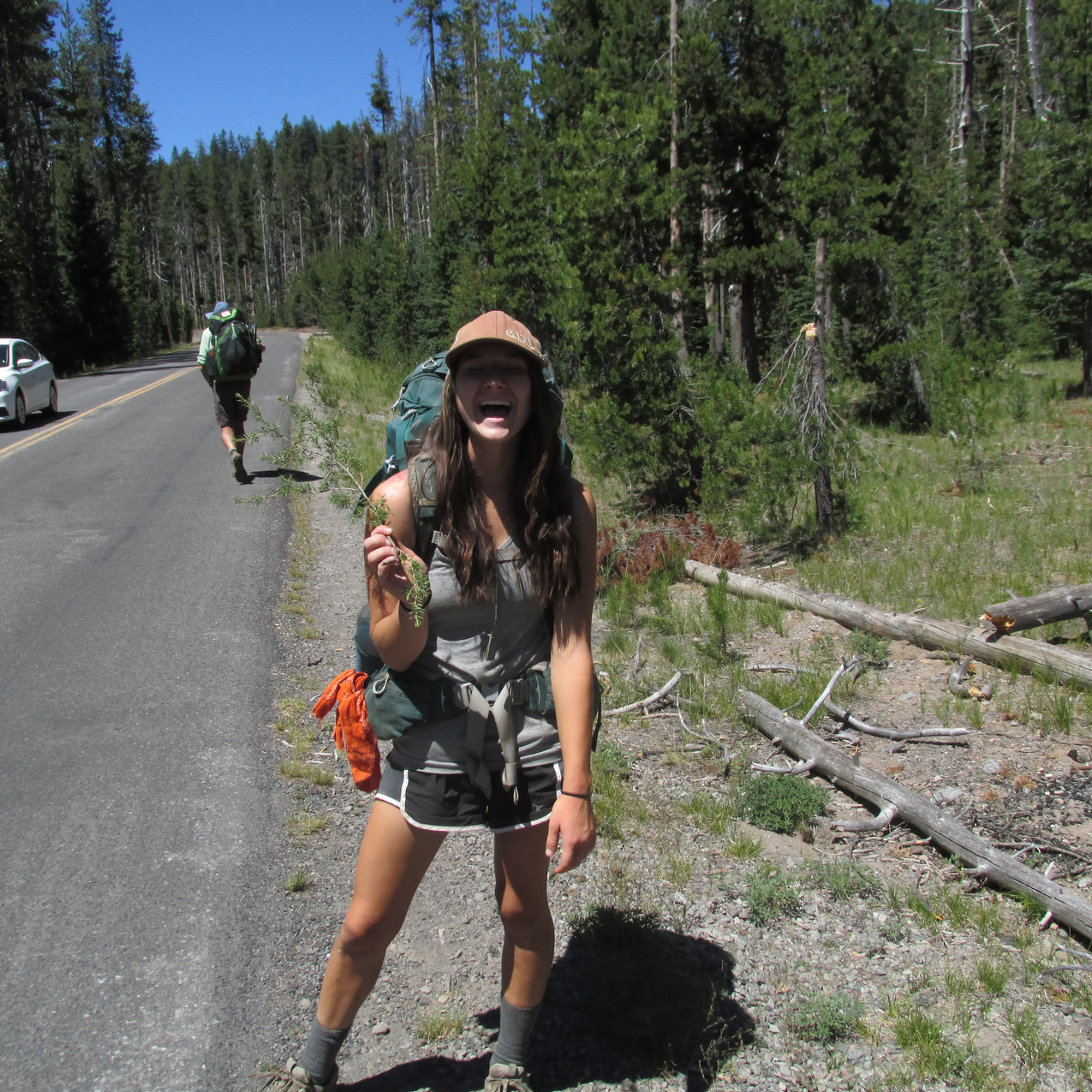 She hiked with XC for a while but they split up at Crater Lake.  Those two lifted my spirits in Southern Oregon when we had to deal with a lot of dead fall and mosquitoes.