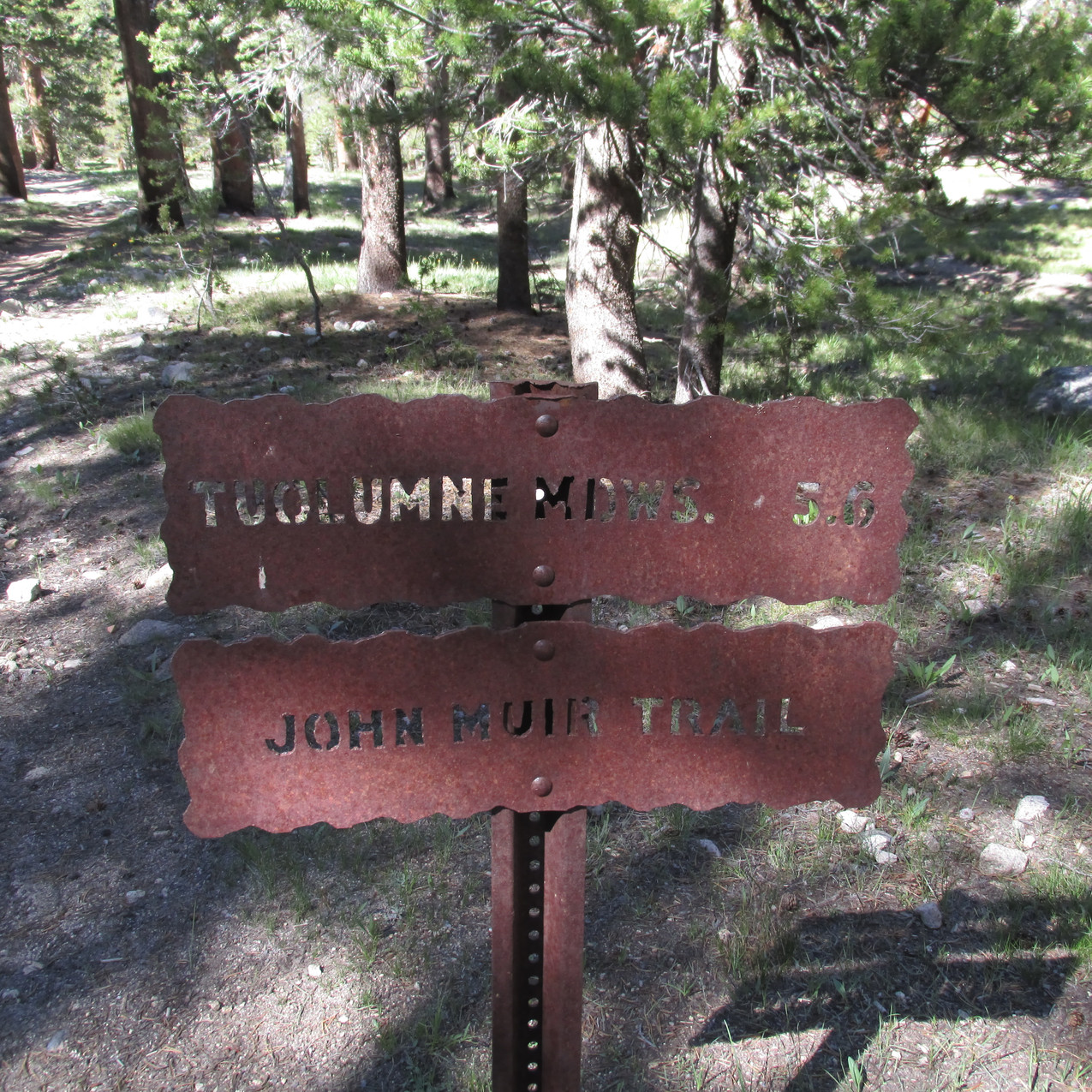 Yosemite had signs like this all over the place.  My uncle does better metal art.