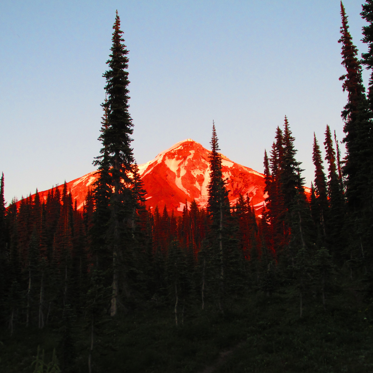 This was from my campsite to end a glorious day on the trail.