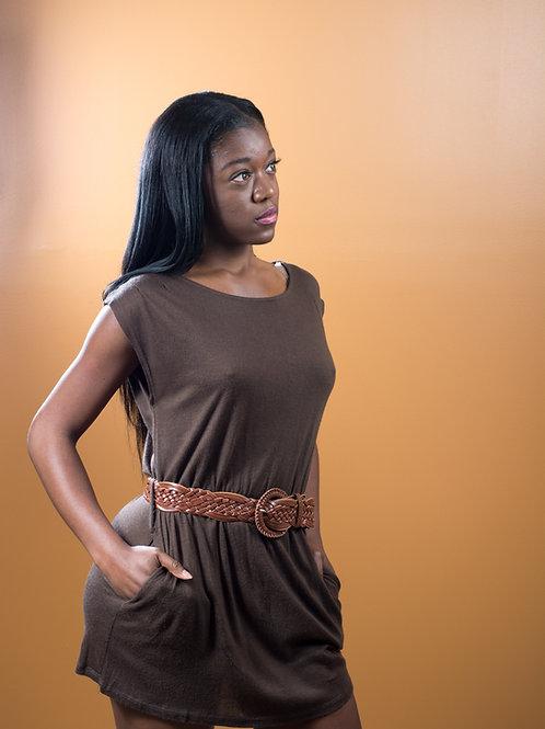 Brown Sweater Dress/Top