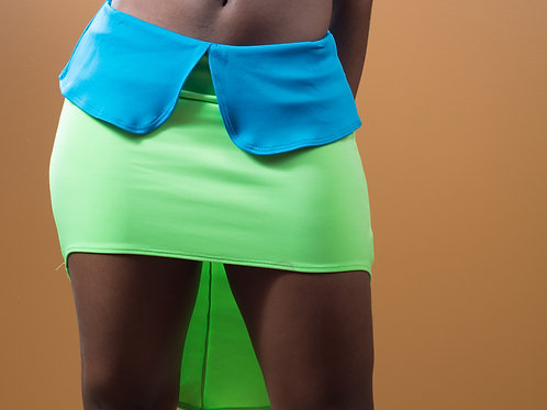 Lime Green High Low Skirt