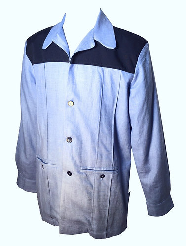 Swankys Vintage Blue Leisure Hollywood Jacket