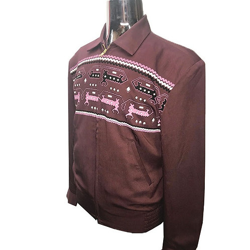 Swankys Vintage Dragons Ricky Burgundy Jacket