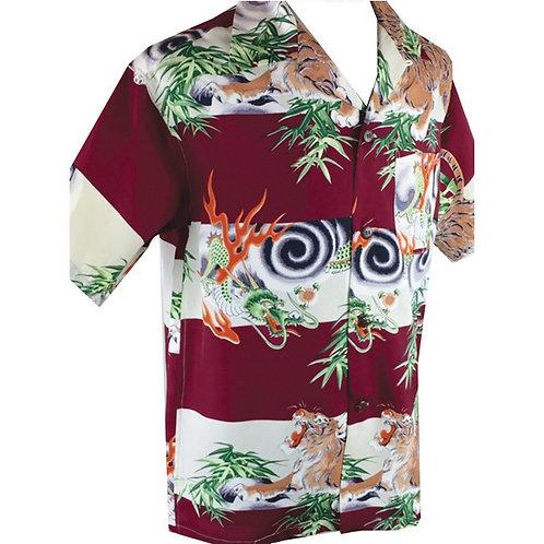 Swankys Vintage Hawaiian Shirt Burgundy