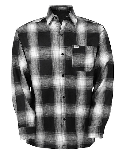 Black Flannel Long Sleeve Shirt