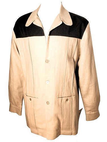 Swankys Vintage Beige Linen Hollywood Jacket