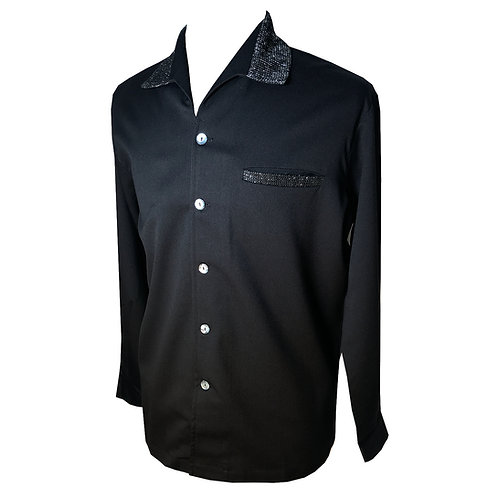 "Swankys Vintage ""Elvis"" Black Shirt"