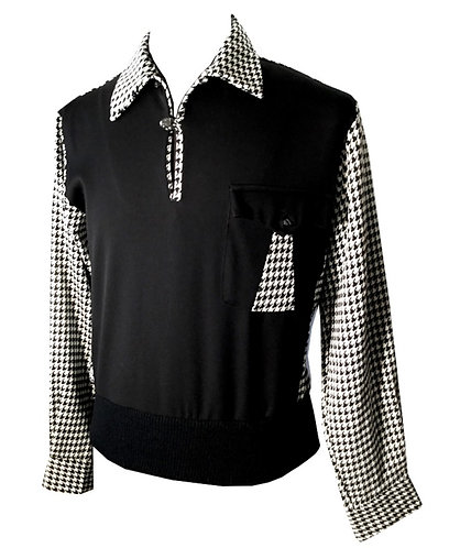 "Swankys VTG Pullover Gaucho ""Black & White Houndstooth"""