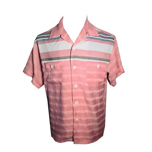 Swankys Vintage Rockabilly Shirt 2-Tone Haley RnR Gradation Stripe