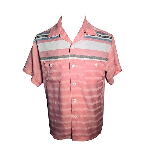 Swankys Vintage Rockabilly Shirt 2-Tone Haley RnR Gradation Stripe