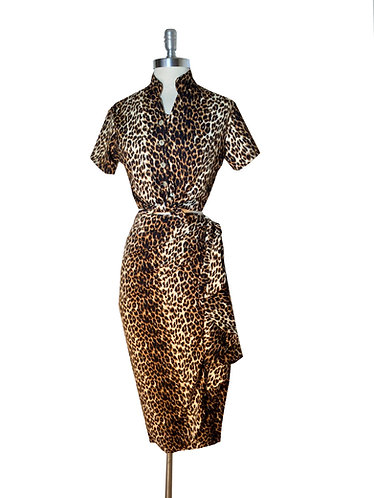 Swankys Vintage Leopard Print 2pc Sarong